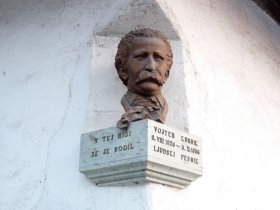 Bust of Vojteh Kurnik in the house where he was born