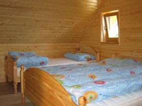 There are 8 beds available in the herders hut